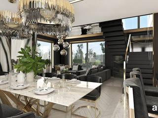 ARTDESIGN architektura wnętrz Ruang Makan Modern