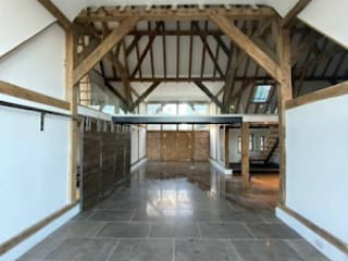 Glass Balustrade on a barn conversion in Portsmouth Origin Architectural Garasi Modern Kaca