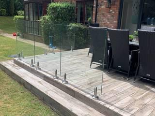 Glass Balustrade project in Salford, Manchester Origin Architectural Taman zen Kaca Transparent