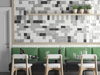 Equipe Ceramicas Scandinavian style dining room Tiles Grey