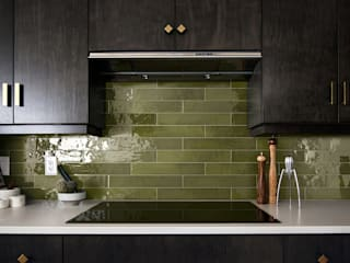 Equipe Ceramicas Industrial style kitchen Tiles Green