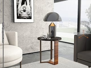 Mezzettidesign Modern living room Marble Black