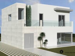 ATELIER OPEN ® - Arquitetura e Engenharia Landhaus Eisen/Stahl Weiß