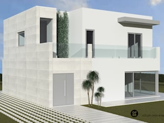 ATELIER OPEN ® - Arquitetura e Engenharia Casas campestres Hierro/Acero Blanco