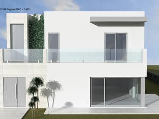 ATELIER OPEN ® - Arquitetura e Engenharia Casas pequeñas Cerámico Gris