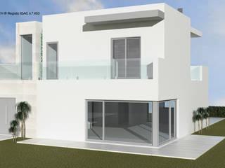 ATELIER OPEN ® - Arquitetura e Engenharia Einfamilienhaus Beton Beige