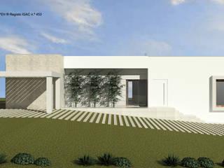 ATELIER OPEN ® - Arquitetura e Engenharia Landhaus Holzspanplatte Gelb