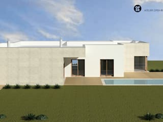 ATELIER OPEN ® - Arquitetura e Engenharia Small houses Iron/Steel Wood effect