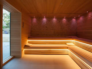 Rudding Park Spa Award Winning Tile Project Tiles&Mosaics Saunas Azulejos Ámbar/Dorado