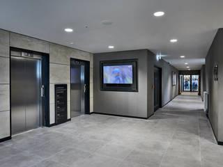 Emerald Headingley Cricket Stadium Tile Project Tiles&Mosaics Koridor & Tangga Modern Ubin Grey