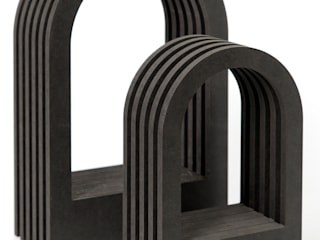 Dutch Duo Design SalonesAccesorios y decoración Derivados de madera Negro