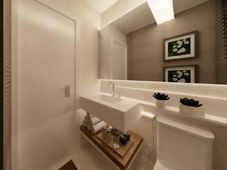 Lavabo Adriana Baccari Projetos de Interiores Banheiros modernos