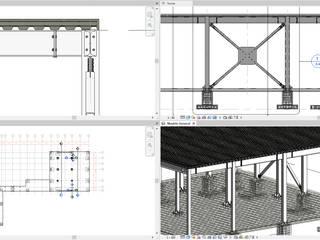 ConstruTech & Technology BIM Ruang Studi/Kantor Gaya Industrial Besi/Baja