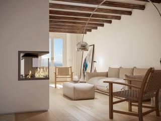 Michele Mantovani Studio Soggiorno moderno Legno massello Beige