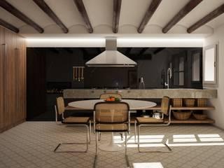 Proyecto de arquitectura, interiorismo y rehabilitación , Belltall Michele Mantovani Studio Cocinas integrales Piedra Multicolor