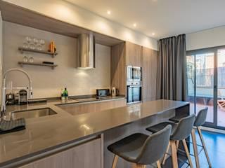Proyecto de interiorismo y reforma, Barcelona Michele Mantovani Studio Cocinas integrales Granito Gris