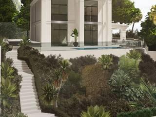 Proyecto de arquitectura,interiorismo y obra , Castelldefels - EN CURSO Michele Mantovani Studio Villas Piedra Beige