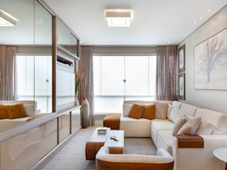 Maciel e Maira Arquitetos 现代客厅設計點子、靈感 & 圖片