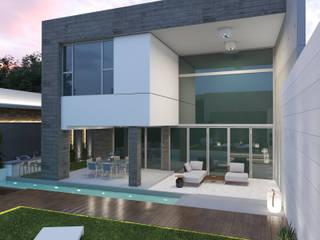 Proyecto VA Diaf design Casas unifamiliares Concreto Gris