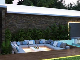 Proyecto VA Diaf design Casas modernas Madera Azul