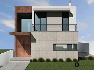 ATELIER OPEN ® - Arquitetura e Engenharia Casas unifamiliares Concreto Blanco