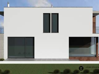 ATELIER OPEN ® - Arquitetura e Engenharia Casas unifamiliares Hierro/Acero Blanco