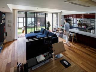 株式会社ブルースタジオ Ruang Keluarga Modern