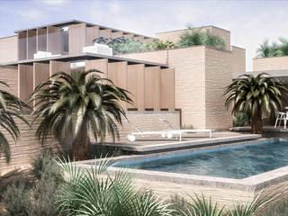 North West Oz RRA Arquitectura Casas de estilo minimalista Madera Beige