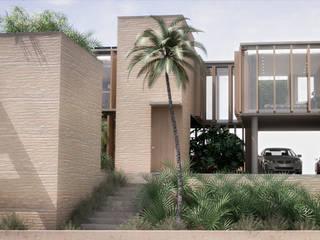 North West Oz RRA Arquitectura Jardines de estilo minimalista Madera Beige