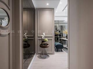 SING萬寶隆空間設計 Classic style corridor, hallway and stairs