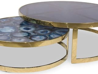 Stonesmiths - Redefining Stoneage Living roomSide tables & trays Batu Blue