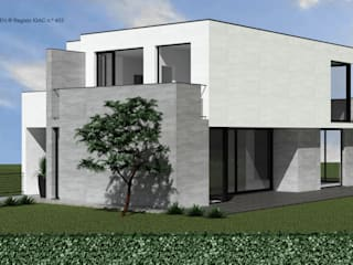 ATELIER OPEN ® - Arquitetura e Engenharia Casas campestres Hierro/Acero Gris