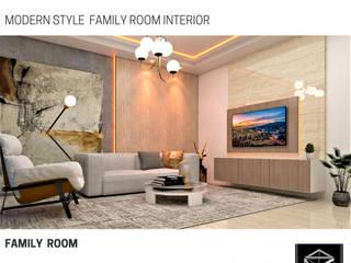 FAMILY ROOM BujurSangkar Architect Ruang Keluarga Modern
