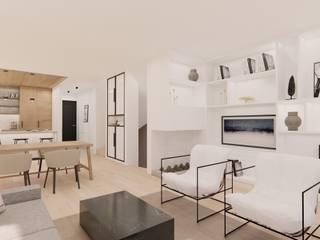 Innenarchitektur Federleicht Modern living room Wood White