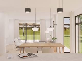 Innenarchitektur Federleicht Modern dining room Wood White