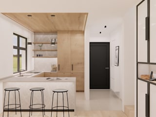 Innenarchitektur Federleicht Modern kitchen Wood White