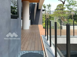 新綠境實業有限公司 Garden Pool Wood-Plastic Composite Wood effect