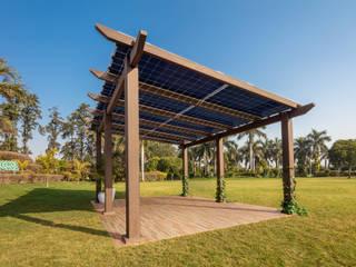 HomeScape by Amplus Solar Передний двор ДПК Эффект древесины