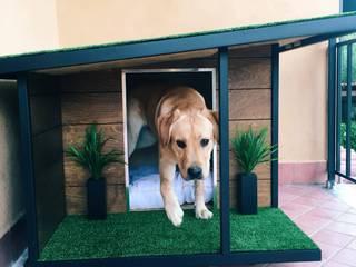 Pet House Design® Taman batu Kayu Brown
