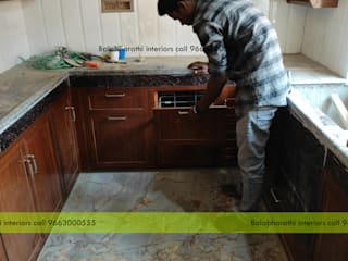 balabharathi pvc interior design KitchenCabinets & shelves Plastic Wood effect