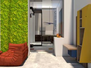BE DESIGN_Ersilia Chiara Maria Bruccoleri Pasillos, vestíbulos y escaleras de estilo minimalista