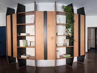 Remigio Architects Study/officeCupboards & shelving