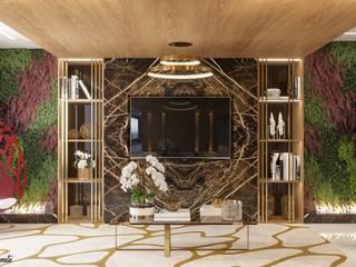 Camila Pimenta | Arquitetura + Interiores Salas de estilo moderno Madera Beige