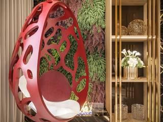 Camila Pimenta | Arquitetura + Interiores Salas de estilo moderno Madera Rojo