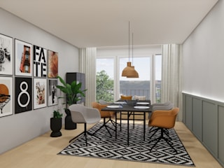 Innenarchitektur Federleicht Scandinavian style dining room Wood Yellow