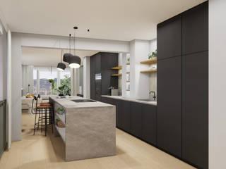 Innenarchitektur Federleicht Kitchen units Stone Black