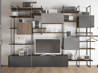 Mezzettidesign 書房/辦公室食具櫃 木頭 Grey