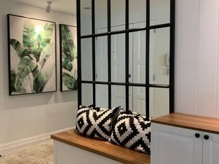 Farmhouse Flair Geraldine Oliva Rustic style corridor, hallway & stairs
