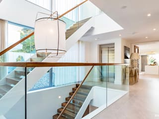 Optima, Luscombe, Luscombe Valley, Poole, Dorset David James Architects & Partners Ltd Stairs