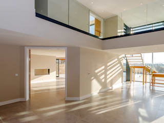 The Dell, Ringwood, Hampshire David James Architects & Partners Ltd Living room